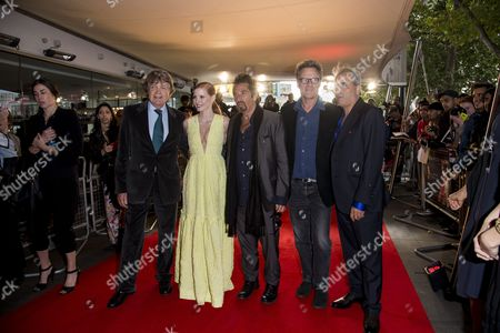Salome/wilde Salome Premiere at the Bfi Southbank Merlin Holland (grandson of Oscar Wilde) Jessica Chastain Al Pacino and Producers Robert Fox and Barry Navidi