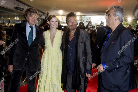 Salome/wilde Salome Premiere at the Bfi Southbank Merlin Holland (grandson of Oscar Wilde) Jessica Chastain Al Pacino and Producer Barry Navidi