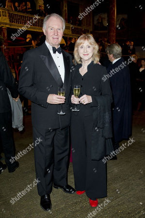 Gala Dinner to Raise Money For the New Indoor Theatre the Candle-lit Sam Wanamaker Playhouse Which Opens Its Doors For the First Time in January 2014 at Shakespeare's Globe Southwark Tim Pigott-smith with His Wife Pamela Miles