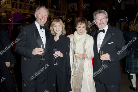 Gala Dinner to Raise Money For the New Indoor Theatre the Candle-lit Sam Wanamaker Playhouse Which Opens Its Doors For the First Time in January 2014 at Shakespeare's Globe Southwark Tim Pigott-smith with His Wife Pamela Miles Zoe Wanamaker with Her Husband Gawn Grainger