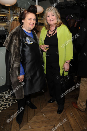 'Shopping Seduction and Mr Selfridge' Book Party at Aubaine Selfridges Suzy Menkes and Lindy Woodhead