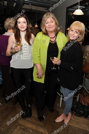 'Shopping Seduction and Mr Selfridge' Book Party at Aubaine Selfridges Aisling Loftus Lindy Woodhead and Lauren Crace