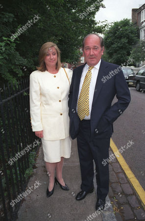 Annual Summer Garden Party in Carlyle Square Ian Wooldridge with His Wife Sarah
