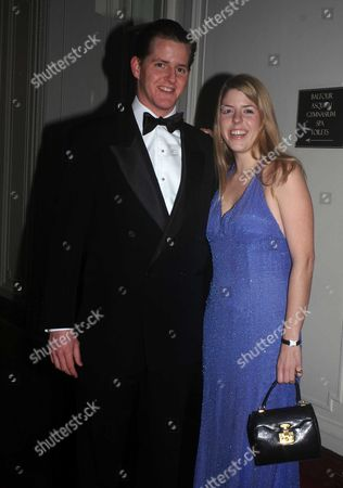 The London Debutante Season's Snow Ball in Aid of the Nspcc and Macmillan Cancer Relief at Mandarin Oriental Hotel Hyde Park London the Hon Victoria Tryon Daughter of Lord Tryon and the Late Kanga Tryon with Her Boyfriend Alexander Foshay