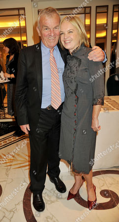 the South Bank Sky Arts Awards Reception at the Dorchester Hotel Lord Matthew Evans and Mariella Frostrup