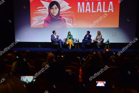 Special Screening of 'He Named Me Malala' Attended by Malala Yousafzai and Family Hosted by the Malala Fund Q&a Panel After the Filming with Moderator Danny Cohen; Malala Yousafzai; Ziauddin Yousafzai; Mabel Van Oranje