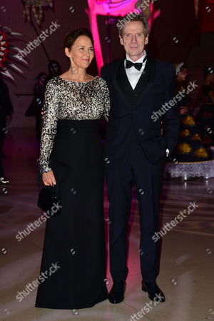 Spectre Royal World Premiere Afterparty at the British Museum Jesper Christensen with His Wife Tove Bornhoeft