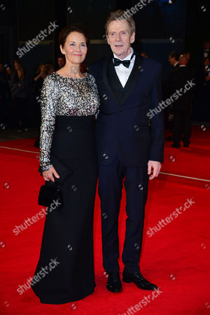 Spectre Royal World Premiere Vip Access at the Royal Albert Hall Jesper Christensen with His Wife Tove Bornhoeft
