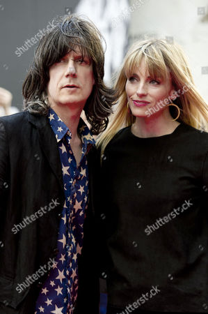 World Premiere 'Made of Stone' at the Victoria Warehouse Manchester John Squire with His Wife Sophie