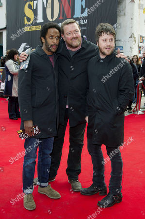 World Premiere 'Made of Stone' at the Victoria Warehouse Manchester Elbow - Pete Turner Guy Garvey and Mark Potter