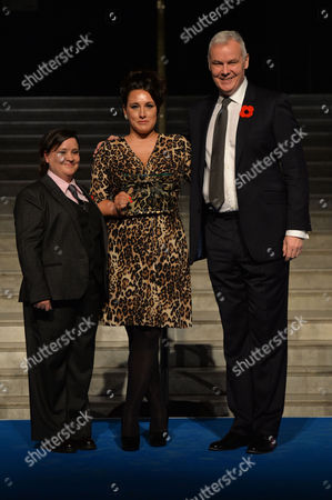 Stonewall Awards 2013 at the V&a Grace Dent ( Journalist of the Year with the Evening Host Susan Calman and Ben Summerskill Stonewall Chief Executive