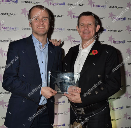 Stock Photo of Stonewall Awards 2013 at the V&a Publication of the Year Metro Editor Kenny Campbell & Andrei Harmsworth