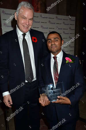 Stonewall Awards 2013 at the V&a Ben Summerskill with Hero of the Year Lord Waheed Alli