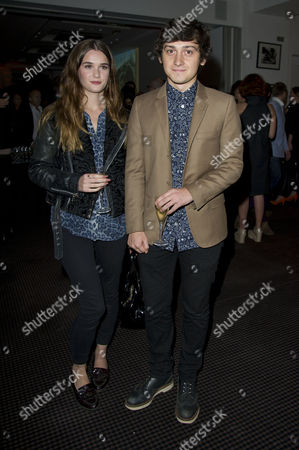 Stock Photo of 'Sunshine On Leith' Screening at Bafta Piccadilly Craig Roberts with His Girlfriend Lucinda Dryzek