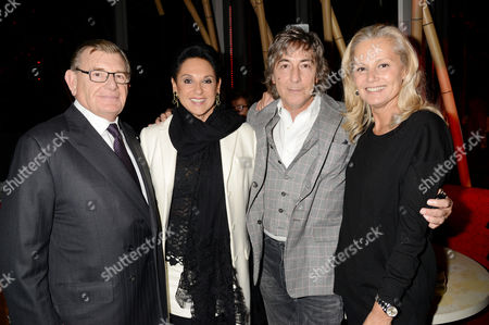 Sushisamba Grand Opening at Heron Tower Bishopsgate Gerald and Dame Gail Ronson with Laurence Ronson and His Wife