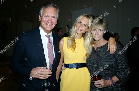 Tank Watch Collection Past Present and Future at the Orangery Kensington Palace Gardens Charles Delevingne with His Wife Pandora and Their Daughter Poppy Delevingne