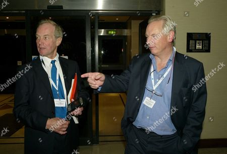 the 2007 Conservative Party Conference in Blackpool News International Party at the Hilton Hotel Peter Lilley with Francis Maude