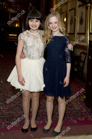 Stock Image of 'The Audience' Press Night Afterparty at the Royal Horseguards Hotel Whitehall Maya Gerber and Nell Williams