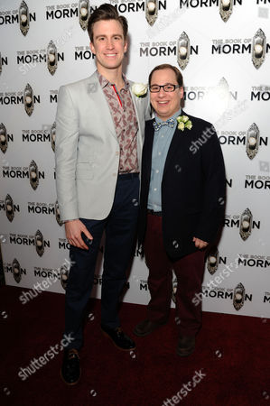 the Book of Mormon Press Night Afterparty at the Natural History Museum Gavin Creel and Jared Gertner