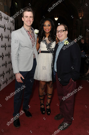 the Book of Mormon Press Night Afterparty at the Natural History Museum Gavin Creel Alexia Khadime and Jared Gertner