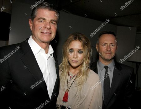 the Calvin Klein 2008 Spring Collections Launch at P3 35 Marylebone Road Tom Murry (president and Coo of Calvin Klein) Mary Kate Olsen and Kevin Carrigan