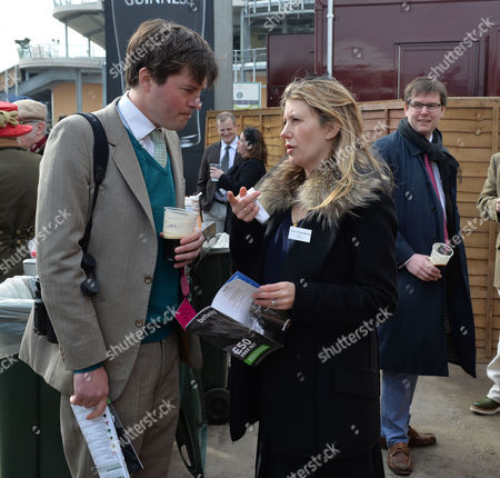 the Cheltenham Festival Ladies Day at Cheltenham Racecourse Harry Lopes and Sara Parker Bowles