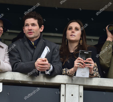 Stock Photo of the Cheltenham Festival Ladies Day at Cheltenham Racecourse Sam Waley-cohen with His Wife Annabel Ballin