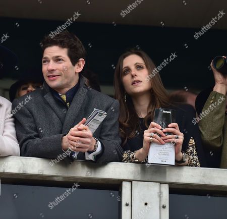 the Cheltenham Festival Ladies Day at Cheltenham Racecourse Sam Waley-cohen with His Wife Annabel Ballin