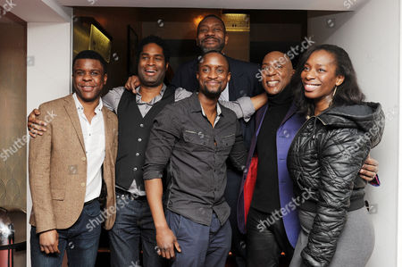 the Critics Circle Theatre Awards at the Prince of Wales Theatre Leicester Square Ashley Zhangazha Peter Bankole Lenny Henry Colin Mcfarlane Tanya Moodie (fences)