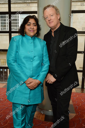the Critics' Circle Theatre Awards at the Prince of Wales Theatre Gurinder Chadha and Howard Goodall (best Musical 'Bend It Like Beckham')
