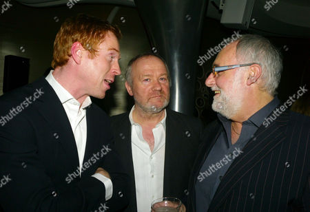 Launch of the End of Summer Ball in Berkeley Square Cocktail Party at Nubu Berkeley Street London Damian Lewis & Vince Power with Nick Blackburn