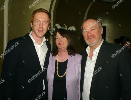 Launch of the End of Summer Ball in Berkeley Square Cocktail Party at Nubu Berkeley Street London Damian Lewis with Anne Lycett (l) of the Princes Trust and Vince Power