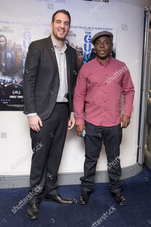 the Guvnors Uk Premiere at the Odeon Covent Garden Director Gabe Turner and Vas Blackwood