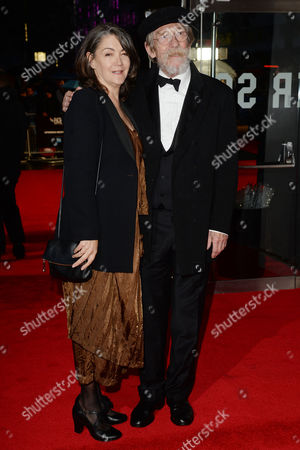 the Imitation Game Premiere at the Odeon Leicester Square During the Bfi London Film Festival 2014 John Hurt with His Wife Anwen Rees Meyers