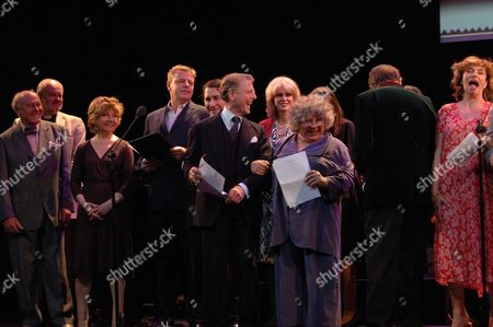 The John Betjeman Royal Gala at the Prince of Wales Theatre Coventry Street London Tim West Prunella Scale Suggs Jules Holland Edward Fox Joanna Lumley Miriam Margoyles Barry Humphries Diana Quick