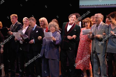 The John Betjeman Royal Gala at the Prince of Wales Theatre Coventry Street London Suggs Jules Holland Edward Fox Joanna Lumley Miriam Margoyles Barry Humphries Nick Cave Diana Quick Peter Baldwin Rachael Stirling