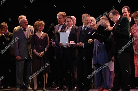 The John Betjeman Royal Gala at the Prince of Wales Theatre Coventry Street London Tim West Prunella Scale Suggs Jules Holland Edward Fox Joanna Lumley Miriam Margoyles Barry Humphries Nick Cave Diana Quick