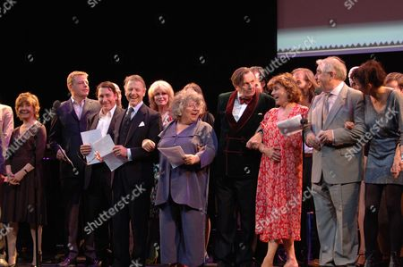 The John Betjeman Royal Gala at the Prince of Wales Theatre Coventry Street London Prunella Scale Suggs Jules Holland Edward Fox Joanna Lumley Miriam Margoyles Barry Humphries Nick Cave Diana Quick Peter Baldwin Rachael Stirling