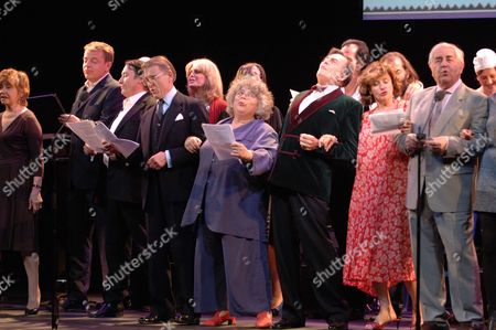 The John Betjeman Royal Gala at the Prince of Wales Theatre Coventry Street London Prunella Scales Suggs Jules Holland Edward Fox Joanna Lumley Miriam Margoyles Barry Humphries Nick Cave Diana Quick Peter Baldwin Rachael Stirling