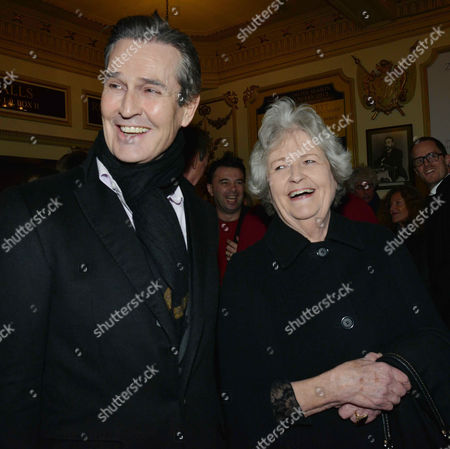 Stock Photo of 'The Judas Kiss' Press Night at the Duke of York's Theatre St Martins Lane - After Show Drinks in the Theatre Rupert Everett with His Mother Sara Mclean Everett