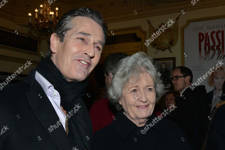 Stock Image of 'The Judas Kiss' Press Night at the Duke of York's Theatre St Martins Lane - After Show Drinks in the Theatre Rupert Everett with His Mother Sara Mclean Everett
