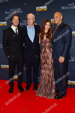 'The Last Witch Hunter' European Premiere at Empire Leicester Square Director Breck Eisner Michael Caine Rose Leslie and Vin Diesel