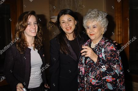 The Laurence Olivier Awards 2004 at the Park Lane Hilton London Uk Dame Joan Plowright the Lady Olivier with Tracy Ullman & Tracys Daughter Mabel