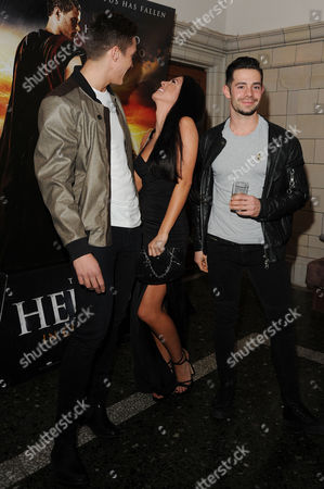 the Legend of Hercules - Vip Screening at the Courthouse Hotel Dan Osborne and Cara Kilbey with Charlie King