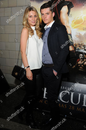 the Legend of Hercules - Vip Screening at the Courthouse Hotel Olivia Newman Young and Jace Moody