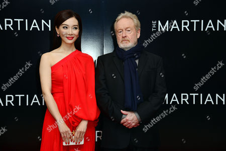 'The Martian' European Premiere at Odeon Leicester Square Chen Shu and Director Ridley Scott