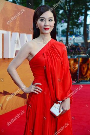 'The Martian' European Premiere at Odeon Leicester Square Chen Shu