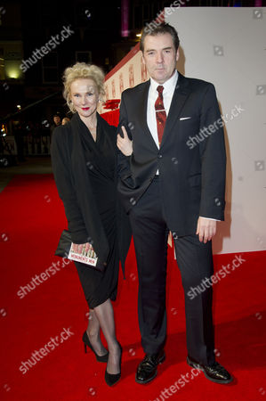 the Monuments Men Uk Premiere at the Odeon Leicester Square Brendan Coyle with His Partner Joy Harrison
