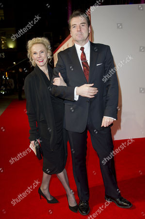 Stock Photo of the Monuments Men Uk Premiere at the Odeon Leicester Square Brendan Coyle with His Partner Joy Harrison