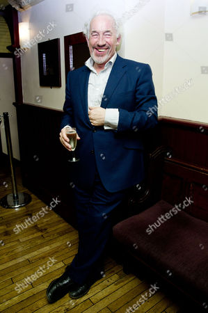 Stock Image of 'The Mystery of Charles Dickens' Press Night After Party at Walker's of Whitehall Simon Callow with the Author Peter Ackroyd